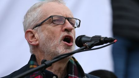 Former Labour leader Jeremy Corbyn, who has been suspended from the Labour Party today. Photograph:
