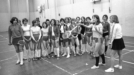 Do you know anybody at this badminton lesson in the sports hall at Westbourne School in 1977? Pictur