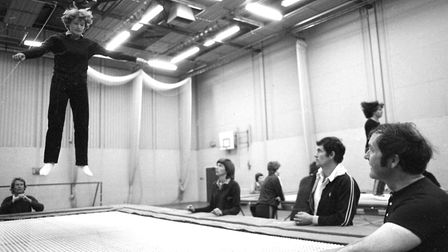 Westbourne School hosting trampolining courses in 1980 Picture: RICHARD SNASDELL/ARCHANT