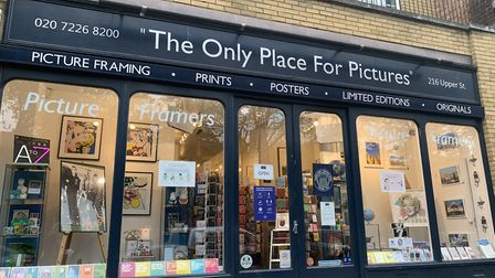 The Only Place For Pictures on Upper Street. Picture: Naomi Clarke