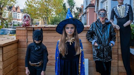 Families on the dark side enjoy Halloween in Kensal Rise. Picture: Lorenzo Grifatini