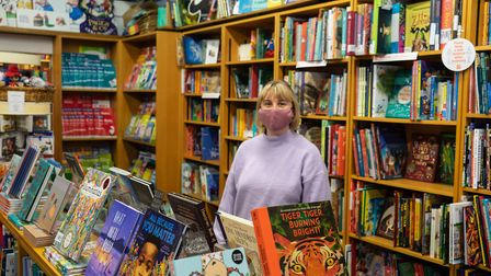 Aimee Gilbert-Bratt at the Children's Bookshop in Muswell Hill. Picture: Joshua Thurston