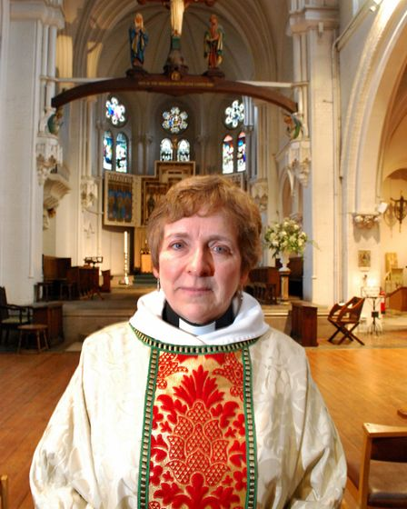 Reverend Marjorie Brown of St Mary's Primrose Hill