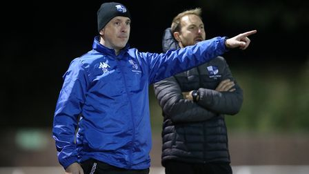 Wingate & Finchley manager Spencer Knight during Hornchurch vs Wingate & Finchley, Pitching In Isthm