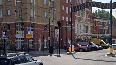 The junction of Nuttall Street and Hoxton Street where the incident happened. Picture: Google Maps