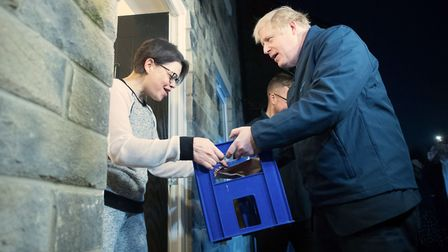 Boris Johnson and his team have been accused of staging a door-knock interview in which the prime mi