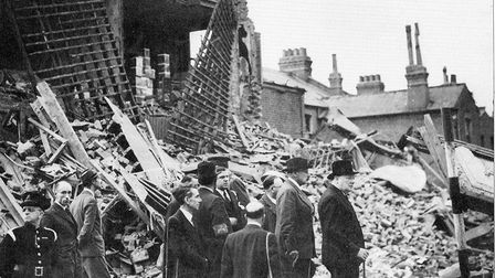 Winston Churchill visits east London the day after South Hallsville school tragedy at Canning Town.