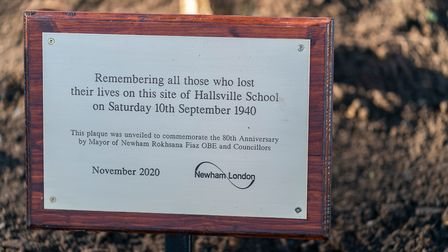 A plaque was erected as part of the ceremony. Picture: Andrew Baker