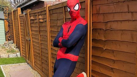 Spider-Man and his fellow superheroes have returned to Kesgrave Picture: CONTRIBUTED