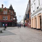 Ipswich town centre on the first day of the second coronavirus lockdown Picture: CHARLOTTE BOND