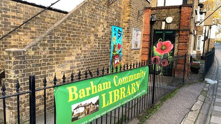 Poppies by LeSpleen, commissioned by Barham Community Library. Francis Henry