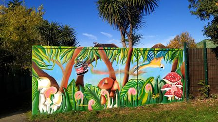Murals by LeSpleen, commissioned by Barham Community Library. Francis Henry