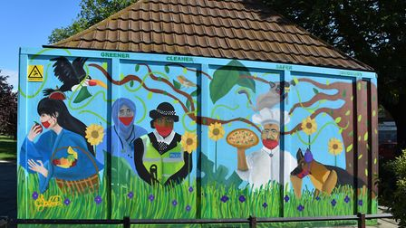 Murals by Sudbury artist LeSpleen, commissioned by Barham Community Library. Francis Henry