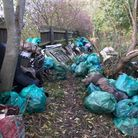 Rubbish left by the River Roding. Picture: Paul Powlesland