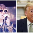 Tom Cridland (left) has released a track about Donald Trump. Picture: Tom Cridland/Deborah Marx