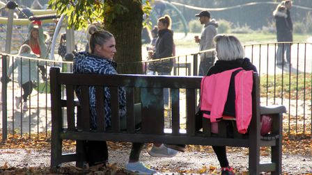 Christchurch Park in Ipswich remained busy on the first weekend of the second coronavirus lockdown. Picture: PAUL...