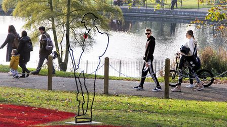 Many people took advantage of the dry weather to enjoy Christchurch Park ahead of Remembrance Sunday. Picture: PAUL...