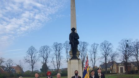 There was a very small ceremony at the Ilford War Memorial with all public services cancelled due to