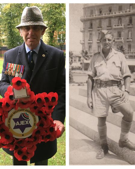 Ashley Kissin (left) laid a wreath on behalf of The Jewish Military Association in honour of his fat