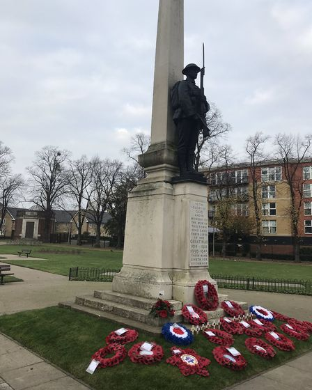 The Ilford War Memorial. Picture: Mike Gapes
