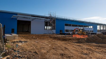 The Hubbards Products factory development is taking shape. Picture: SARAH LUCY BROWN