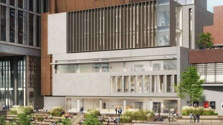 CGI of the new BBC centre at Stratford Waterfront, part of the East Bank development. Picture: GLA