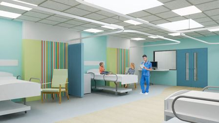 An artist's impression of what a ward at the new Ipswich Hospital children's department could look like. Picture: EAST...