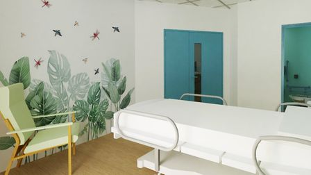 An artist's impression of what a single bed ward at the new Ipswich Hospital children's department could look like.