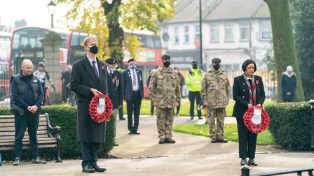 East Ham MP Stephen Timms and mayor of Newham, Rokhsana Fiaz, at the Remembrance Sunday event on November 8. Picture...