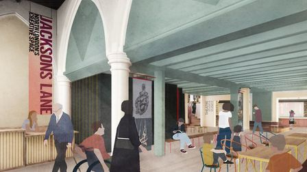 Artists impression of the new foyer at Jacksons Lane Highgate
