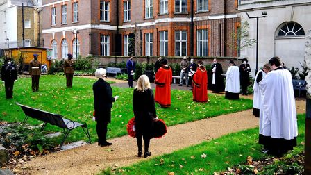 Remembrance Sunday service in Camden at St Pancras Church. Picture: Camden Council