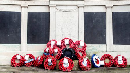 Remembrance Sunday service in Haringey at the Wood Green War Memorial. Picture Haringey Council