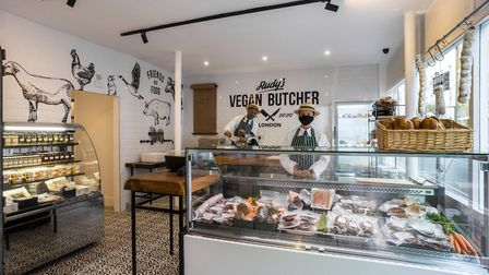 Rudy's vegan butcher's shop has opened in Islington. Picture: Rudy's