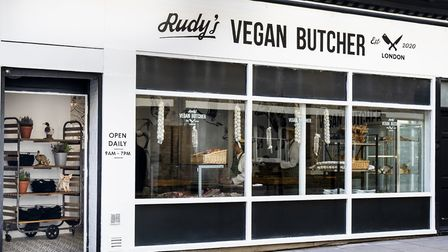 Rudy's vegan butcher's shop has opened at the corner of Upper Street and Islington Park Street. Picture: Rudy's