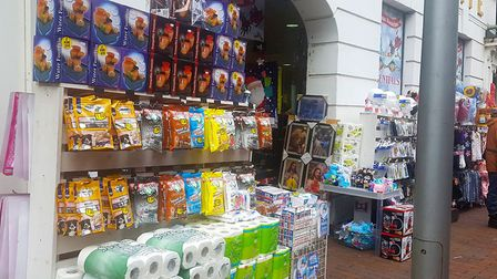 The Christmas shop in Tavern Street, Ipswich has remained open during the second coronavirus lockdown. Picture: ARCHANT