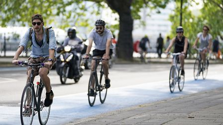 Works are set to begin on the bike lanes in early December. Picture: Aaron Chown/PA