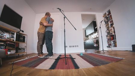 Victor Esses and Yorgos Petrou perform Unfamiliar at Home in their Islington flat