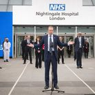 Health secretary Matt Hancock at the opening of the NHS Nightingale Hospital at the ExCeL in April. Picture: Stefan...