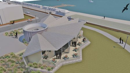 A CGI of how the new cafe at Martello Park, Felixstowe, wil look Picture: PLAICE DESIGN CO LTD