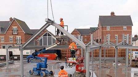 The new £1.5m cafe/restaurant is taking shape at the entrance to Felixstowe's Martello Park Picture: