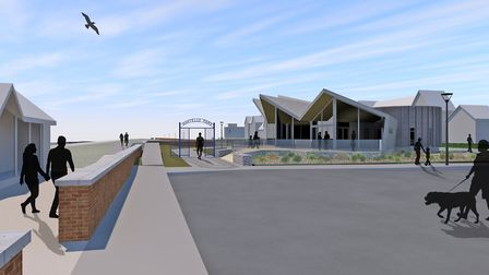How the new cafe at the junction of Sea Road andf Orford Road, Felixstowe, will look from the main s