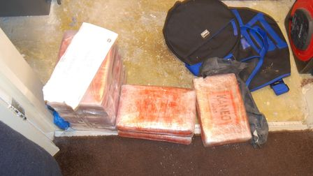 Kilo blocks of cocaine from the safe. Picture: NCA