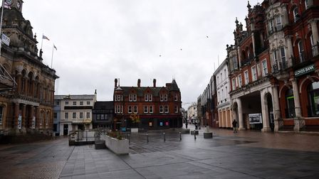 The Cornhill pictured on Sunday, November 15, during the second weekend of the second lockdown. Pi