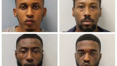 Clockrise from top left: Alhassan Jalloh, Rene Montaque, TaalibRowe and Karlos Gracia. Picture: Met Police