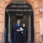 Ayesha Karim with NCS principal Mouhssin Ismail. Picture: Arthur Communications