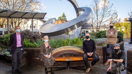 The new bench is a tribute to key workersl. Picture: Royal Free