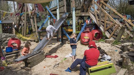 Hackney Marsh Adventure Playground opened in 1972. Picture: Sean Pollock
