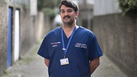 Newham Hospital's associate director of midwifery and nursing, Giuseppe Labriola. Picture: Barts Cha