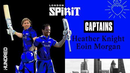 Heather Knight and Eoin Morgan will lead London Spirit in The Hundred next year (pic ECB)