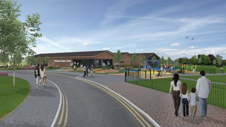 A computer-generated image of what the new leisure centre in Viking Way, Rainham might look like. Pi